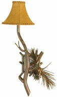Meyda Tiffany 104457 Lone Pine 22 Inch Tall Rustic Wall Lighting Sconce