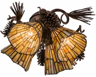 Meyda Tiffany 105716 Jadestone Delta Tiffany Mahogany Bronze Finish 8.25  Tall Fan Light Kit