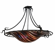 Meyda Tiffany 106152 Marina Fused Glass 36 Inch Diameter 3 Lamp Ceiling Light Fixture - Modern