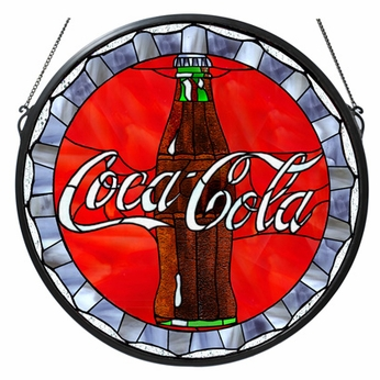 Meyda Tiffany 106225 Coca Cola Bottle Cap Medallion Stained Glass Art