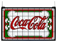 Meyda Tiffany 106234 Coca Cola Nouveau Stained Glass Art
