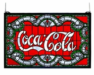 Meyda Tiffany 106235 Coca-Cola Victorian Glass Window Home D�cor - 15 Inches Tall