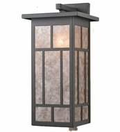 Meyda Tiffany 106533 Hyde Park Silver Mica Solid Mount Craftsman Wall Sconce Lighting