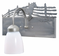 Meyda Tiffany 106677 Running Horse Steel 10 Inch Tall Rustic Wall Sconce - Right