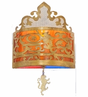 Meyda Tiffany 106877 Stanley 16 Inch Tall Antique Gold Traditional Style Wall Sconce Light