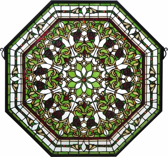 Meyda Tiffany 107223 Front Hall Floral Tiffany Patina Stained Glass Window