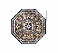 Meyda Tiffany 107224 Front Hall Floral 35 Inch Tall Octagonal Wall D�cor Window