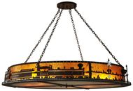 Meyda Tiffany 107264 Train 72 Inch Diameter Amber Mica 12 Lamp Lighting Pendant