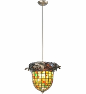 Meyda Tiffany 107367 Greenbriar Oak 12 Inch Diameter Hanging Pendant Light