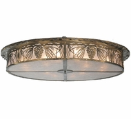 Meyda Tiffany 107572 Mountain Pine Flush Mount 12 Lamp Antique Copper Ceiling Light - 72 Inch Diameter