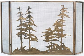 Meyda Tiffany 107632 Tall Pines Country Antique Copper Fireplace Screen