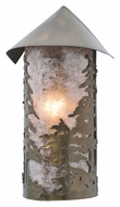 Meyda Tiffany 107657 Tall Pines 15 Inch Tall Rustic Wall Light Sconce - Antique Copper