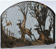 Meyda Tiffany 107759 Deer on the Loose Country Antique Copper Fireplace Screen