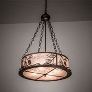 Meyda Tiffany 107941 Balsam Pine Rustic Antique Copper Drum Pendant Lighting