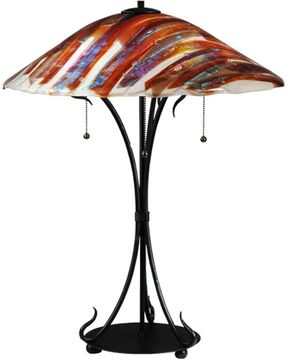 Meyda Tiffany 108321 Marina Fused Glass 28 Inch Tall Contemporary Table Lamp