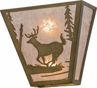 Meyda Tiffany 108531 Deer Creek Country Antique Copper / Silver Mica Wall Lamp