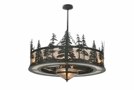 Meyda Tiffany 108718 Tall Pines W/Fan Light Chandel-Air Rustic Lighting Chandelier With Silver Mica