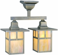Meyda Tiffany 109152 Hyde Park Craftsman 15 Inch Tall Ceiling Light Fixture