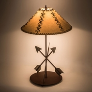 Meyda Tiffany 109374 Arrowhead Steel / Red Rust Lighting Table Lamp