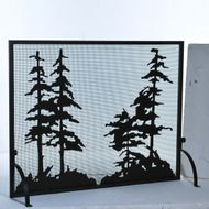 Meyda Tiffany 109441 Tall Pines Country Fireplace Screen