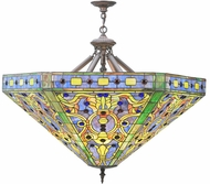 Meyda Tiffany 109969 Tiffany Elizabethan Tiffany Purple / Blue Pendant Lighting Fixture