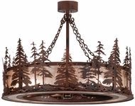 Meyda Tiffany 109974 Tall Pines Chandel-Air 45 Inch Diameter Rustic Chandelier Light Fixture - 8 Lamps