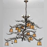 Meyda Tiffany 110031 Pine Branch Valley 52 Inch Diameter Antique Copper Rustic Chandelier