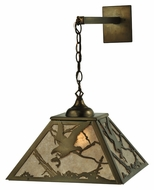 Meyda Tiffany 110135 Strike Of The Eagle 15 Inch Wide Hanging Wall Light - Antique Copper