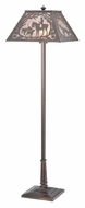 Meyda Tiffany 110194 Fox Hunt 60 Inch Tall Rustic Floor Lamp - Mahogany Bronze