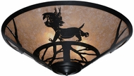 Meyda Tiffany 110549 Lynx On The Loose Rustic 22 Inch Diameter Flush Lighting