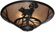 Meyda Tiffany 110553 Racoon On The Loose Rustic 3 Lamp Silver Mica Ceiling Light