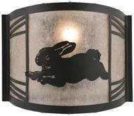 Meyda Tiffany 110558 Rabbit on the Loose Country LED Light Sconce