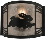 Meyda Tiffany 110559 Rabbit on the Loose Country LED Wall Mounted Lamp