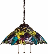 Meyda Tiffany 11059 Spiral Grape Tiffany Antique Pendant Lamp