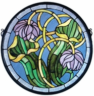 Meyda Tiffany 11093 Pitcher Plant Tiffany Stained Glass Window