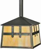 Meyda Tiffany 110941 Square Stillwater Double Cross Mission 14 Inch Diameter Craftsman Drop Lighting Pendant