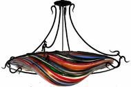 Meyda Tiffany 110963 Fused Glass Contemporary 36 Inch Diameter 3 Lamp Ceiling Light