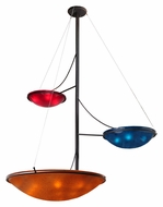 Meyda Tiffany 111015 The Third Dimension 86 Inch Diameter Contemporary 3 Lamp Hanging Chandelier