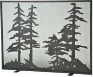 Meyda Tiffany 111045 Tall Pines Country Wrought Iron Fireplace Screen