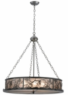 Meyda Tiffany 111316 Whispering Pines 30 Inch Diameter Rustic Style Pewter Lighting Pendant