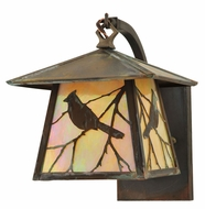 Meyda Tiffany 111450 Stillwater Song Bird Vintage Copper Curved Arm Wall Light - 10 Inches Tall