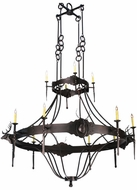Meyda Tiffany 112053 Stag Traditional Style 72 Inch Diameter 12 Candle Chandelier