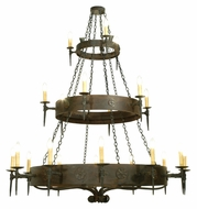 Meyda Tiffany 112084 Warwick 21 Candle 72 Inch Diameter Costello Black Large Chandelier