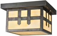 Meyda Tiffany 112385 Square Hyde Park Double Cross Flush Mount Craftsman Ceiling Lamp