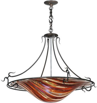 Meyda Tiffany 112432 Marina Fused Glass 36 Inch Diameter Fused Glass Contemporary Pendant Light