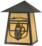 Meyda Tiffany 112463 Lake Clear Lodge Stein Craftsman 10 Inch Tall Sconce Lighting Fixture