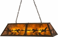Meyda Tiffany 112603 Ducks in Flight Antique Copper / Amber Mica Island Lighting