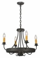 Meyda Tiffany 112633 Franciscan 25 Inch Diameter 4 Candle Wrought Iron Chandelier Lighting