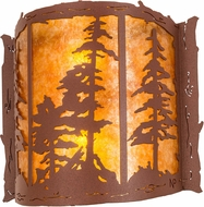 Meyda Tiffany 113012 Tall Pines Country Rust / Amber Mica Lighting Wall Sconce