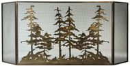 Meyda Tiffany 113067 Tall Pines Country Antique Copper Fireplace Screen